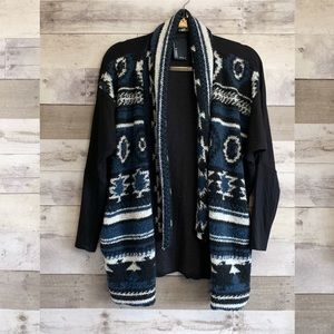 Dolan Anthro Aztec Santiam Open Cardigan Sweater